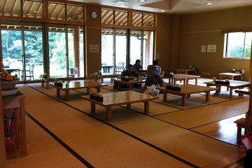 A comfortable Japanese-style sitting area
