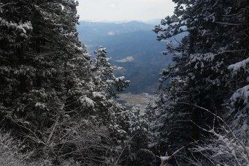 The view east, toward Nara Prefecture