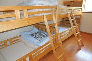 Two of the rooms have bunk beds