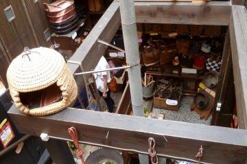 Inside the antique shop