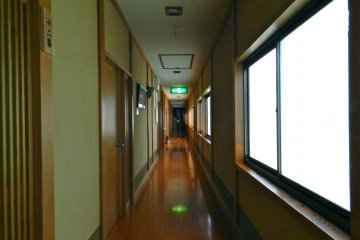 The main hall, full of sunlight.
