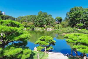 Shukkeien Garden Takuei-chi (Pond of Cleansing Purity)
