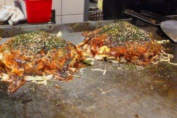 Okonomiyaki  at Hiroshima Station