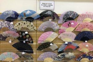 Examples of sensu at Tokyo's Oriental Bazaar souvenir store