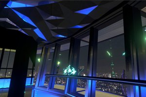 Get a 360 degree view of futuristic Tokyo