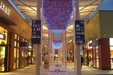 brand-new alley of bran-new shops