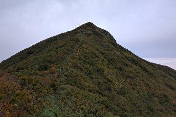 A view of the second peak ahead, Mt Shirokko Mori