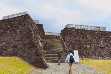 甲府城遗址城墙