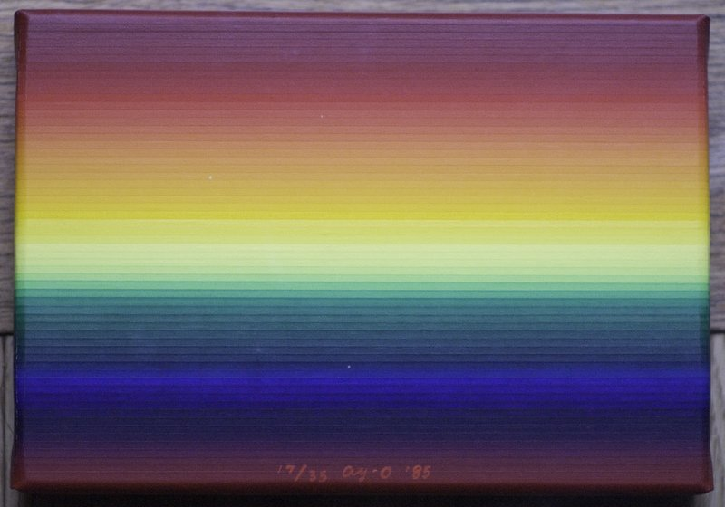 An example of Ay-o's rainbow-inspired work