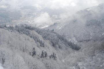 Another view from the top of the slopes at GALA Yuzawa Snow Resort