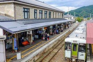 Tono Station from the overhead footbridge