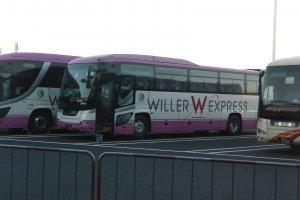 Willer Express parked in Chiba's Tokyo Disney Land