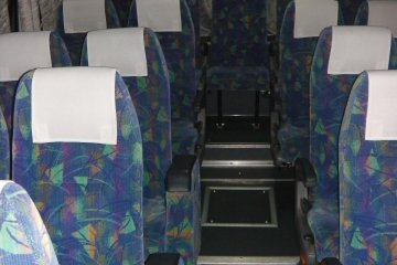 """View of an empty """"Standard"""" bus"""