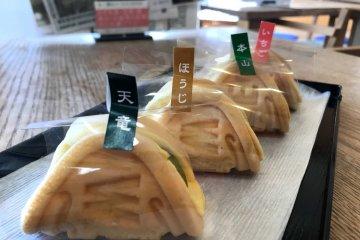 Green tea waffle snacks