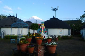 Below the playground which is on a mountain itself, is the 'slow lodge villas'. These too have a Fuji view.