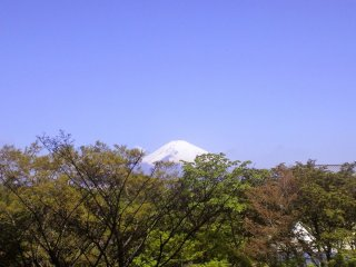 Hotel Tokinosumika, one of two hotels at the resort, also has a view of Mt Fuji.