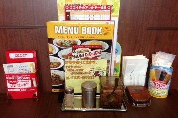 <p>Coco Ichibanya&#39;s has menus in Japanese, English, Korean, Chinese, and Thai</p>