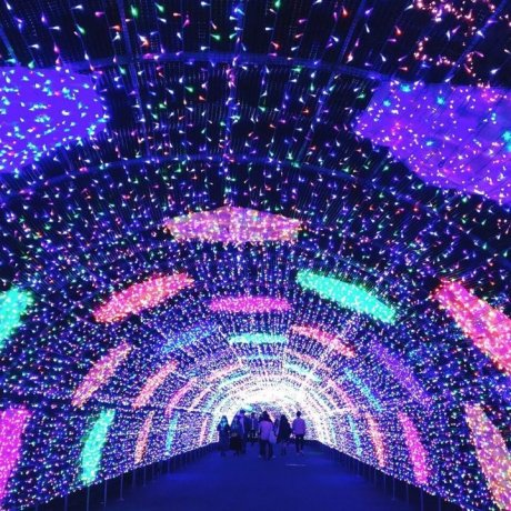 Iluminasi Luar Biasa di Yomiuri Land