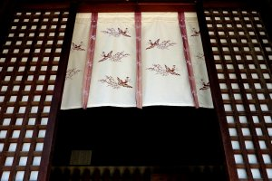 Sliding door of Kaidan-do Hall