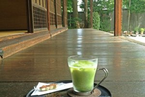 Tea on the veranda at Issa Soju Memorial Hall