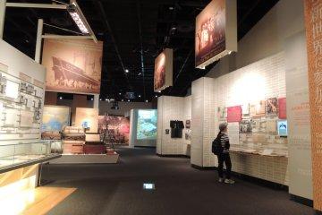 Japanese overseas Migration Museum exhibition floor
