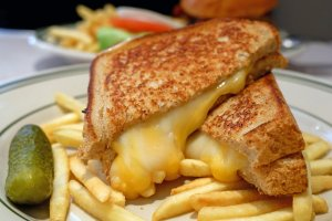 Delicious cheese sandwich