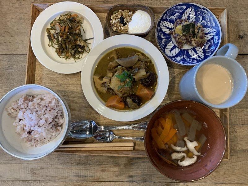 Japanese Teishoku with Chai Tea