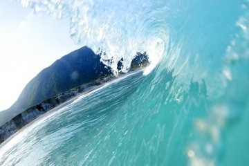 The waves off of Niijima