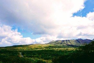 Oshima's volcanic caldera
