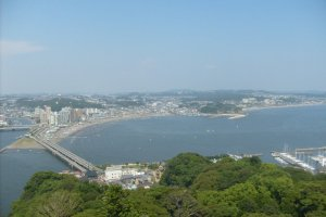 A view from the summit of Enoshima island
