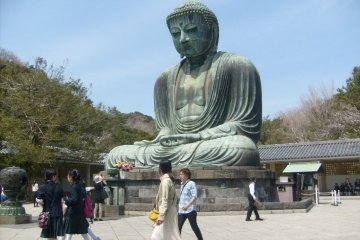 The Daibutsu (Great Buddha), near Hase station on the Enoden line