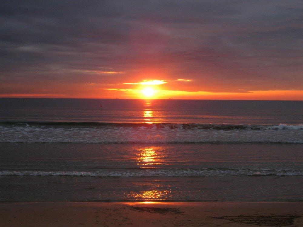 若松海岸夕阳