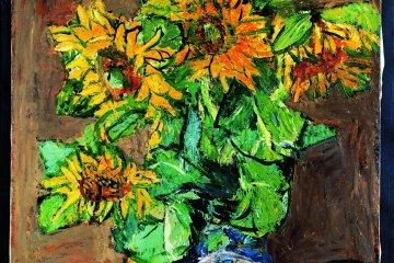 """Nakagawa's painting """"Sunflowers"""""""