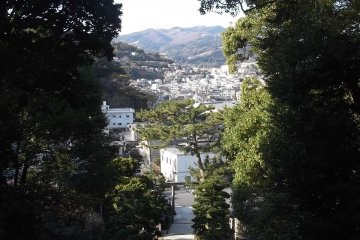 From the top of the steps at Kibune Shrine