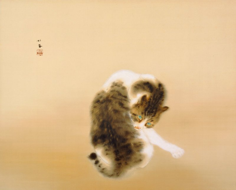 Tabby Cat - One of Takeuchi Seiho's iconic works