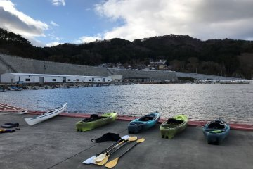 Kayaking is one of the active holiday options in the Kamaishi area.