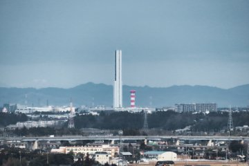 View of G1 Tower from Oarai Marine Tower