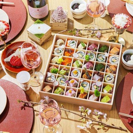 Hanami at Home: Shari's Roll Sushi Bento