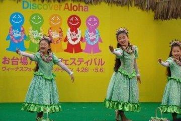 跳舞中可爱的孩子们