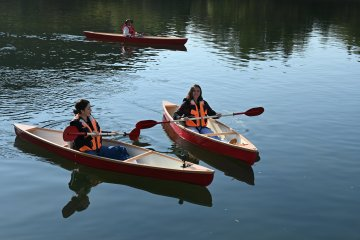 A serene canoeing experience
