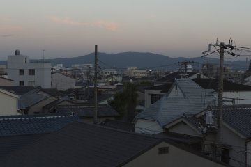 The great thing about Kansai is you are never far from mountains and any building with a reasonable height has a spectacular view
