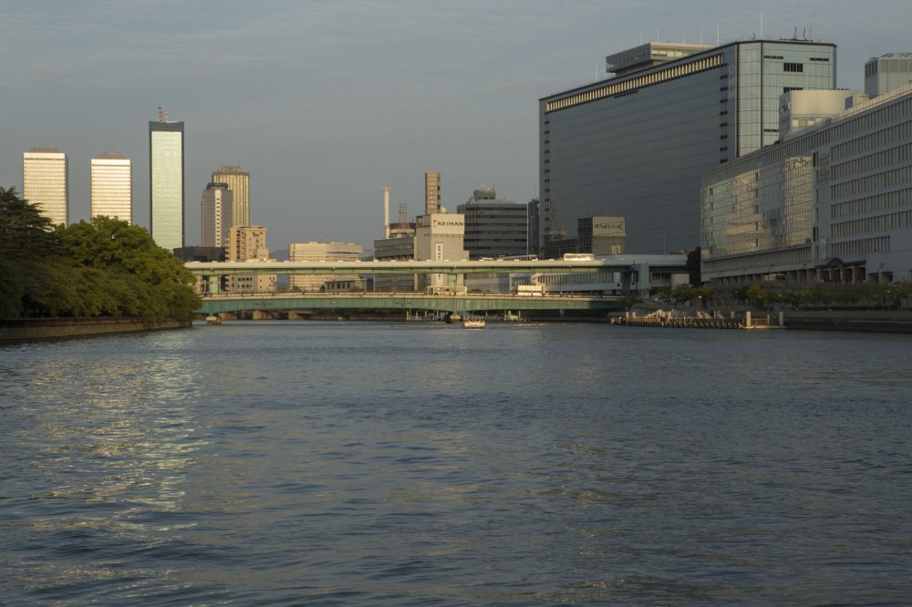 Dividing the city, the Kyu-yodo River is a beautiful site as the sun goes down