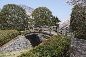 The little bridge in the park