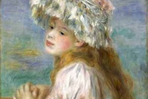 "One of the pieces at the event: Renoir's ""Girl in a Lace Hat"" (1891)."
