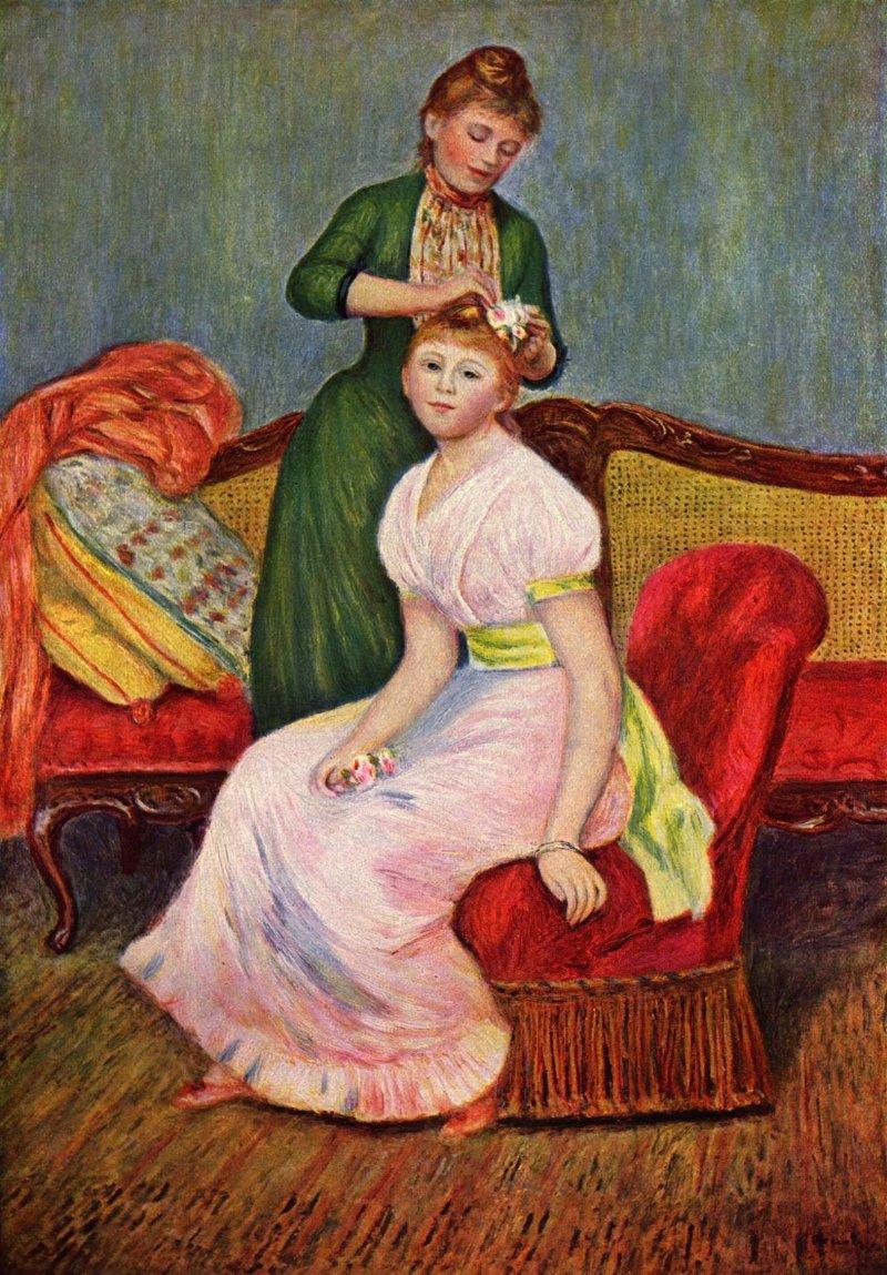 """Renoir's """"La Coiffure"""" (1888)"""