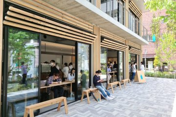 Blue Bottle fans flocked to the cafe on the April 28th opening day