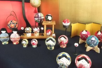 A display in Shinise Memorial Hall