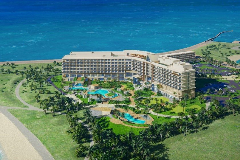 The resort will sit right by the water