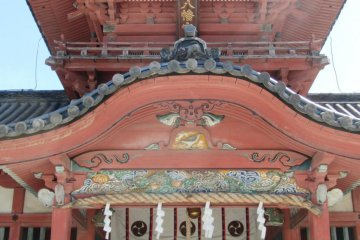 The imposing gateway