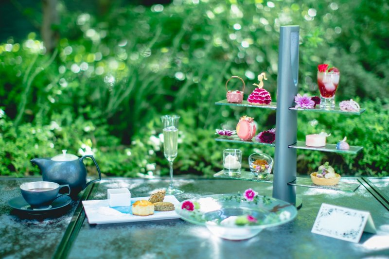 The whimsical-feeling afternoon tea